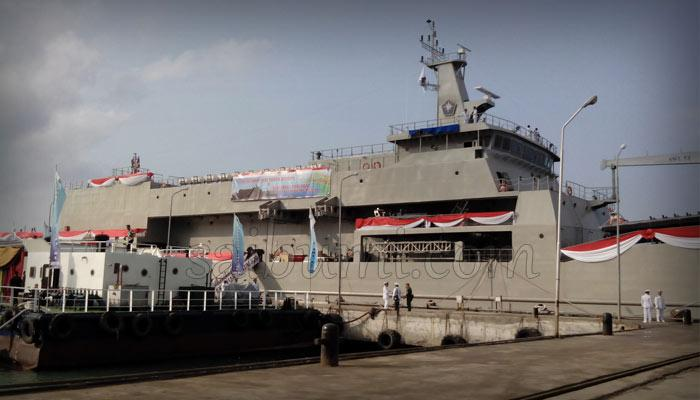 Jelang Peresmian KRI Teluk Bintuni 520 oleh Menteri Pertahanan Purnomo Yusgiantoro