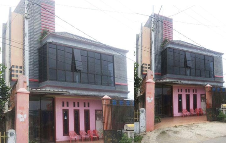 Rumah Tiga Lantai Dijual di Way Halim Bandar Lampung